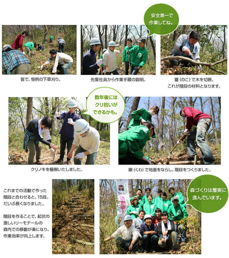 第5回リーモ・デールの森づくり活動
